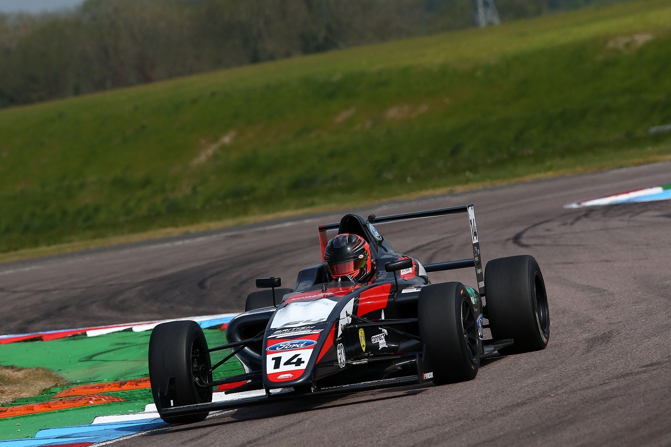 First British F4 podium for Massaad in Race 1 at Thruxton