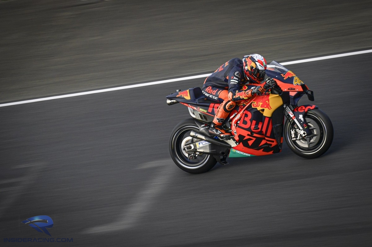 Pol Espargaro struck late to take third after another impressive ride in the wet