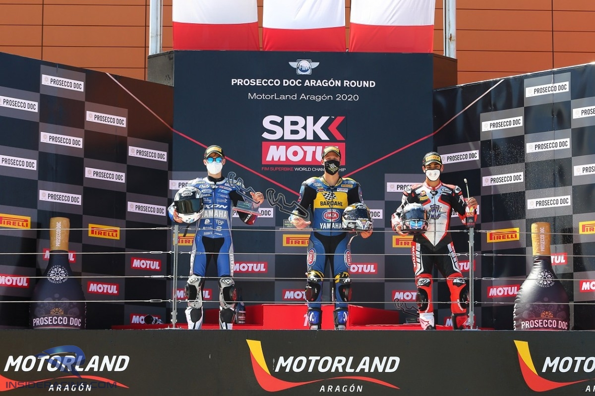 WorldSSP MotorLand Aragon Race 2 podium