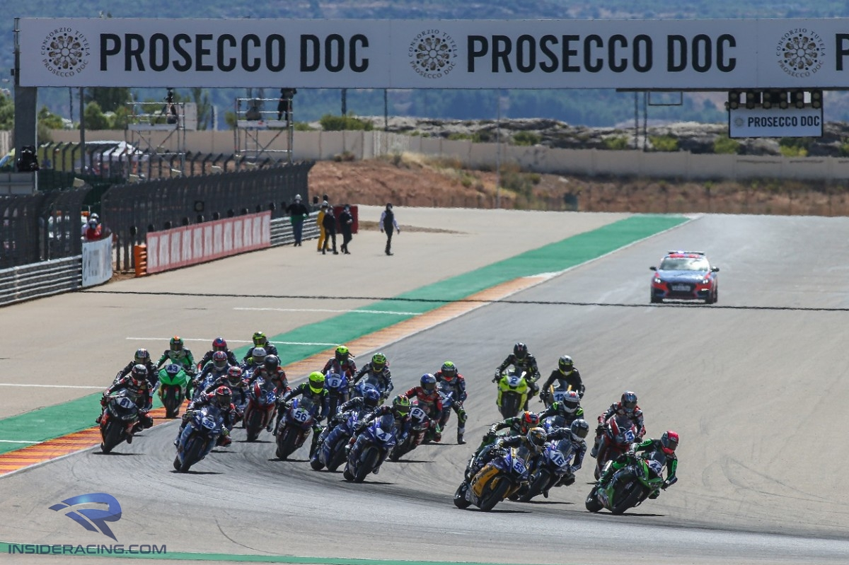 WorldSSP MotorLand Aragon Race 2 start