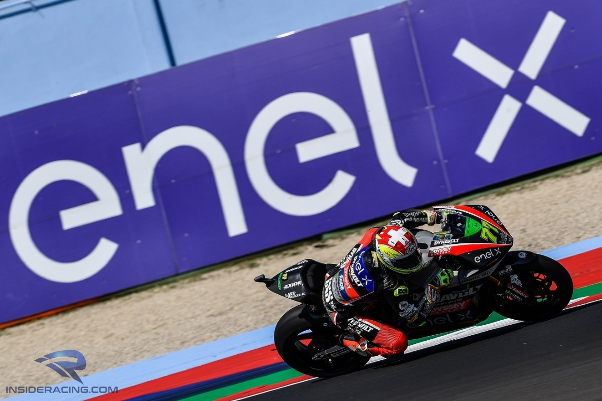 Points leader Aegerter crashed but hung on to P5