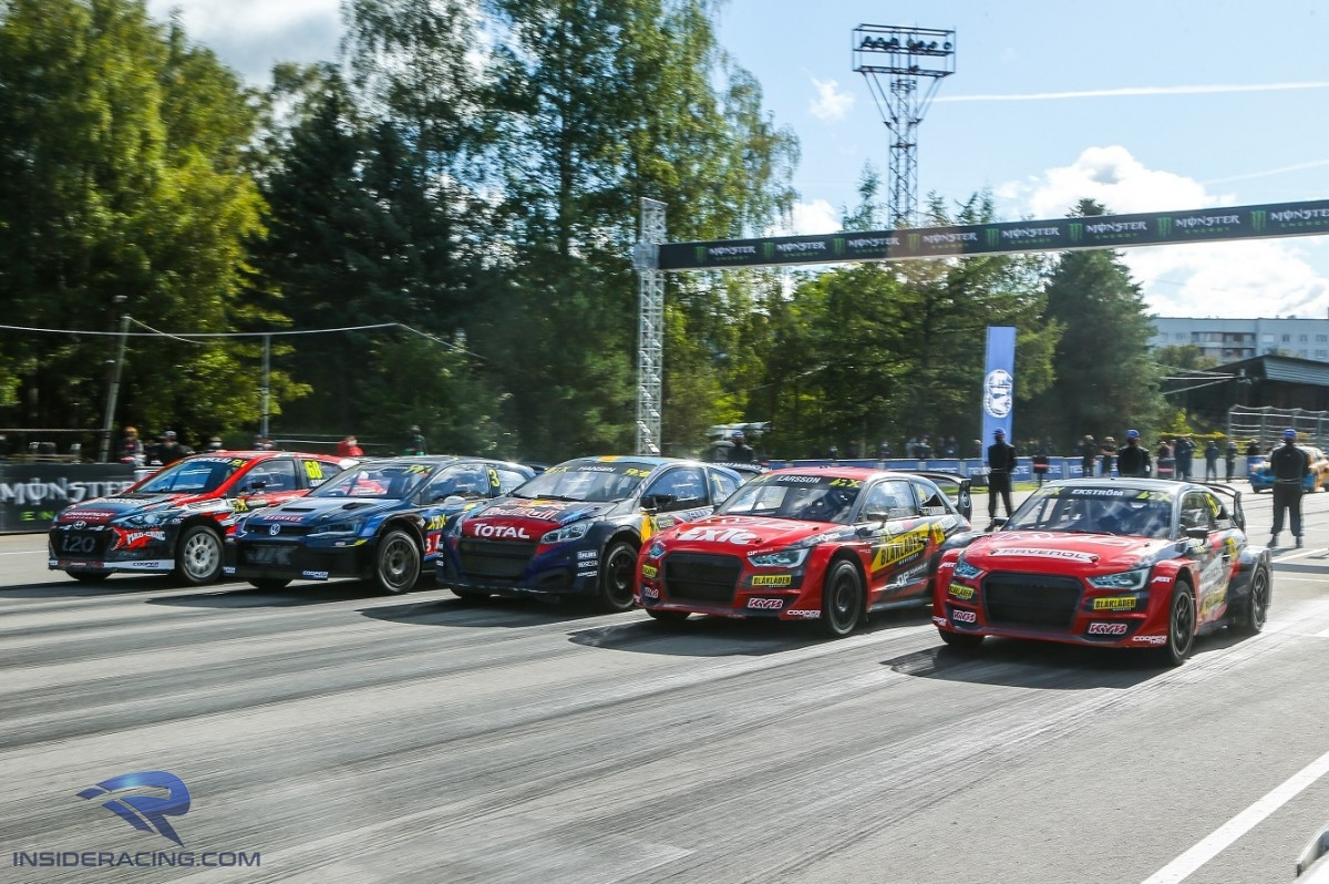 WorldRX Riga Race 2 Final start