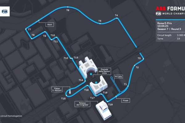 New layout unveiled for the Formula E 's trip to Rome